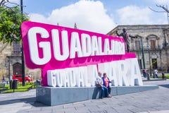 瓜达拉哈拉标志 免版税库存照片