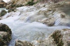 瓜达莱斯特和阿尔加瀑布,西班牙 免版税图库摄影