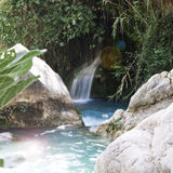 瓜达莱斯特和阿尔加瀑布,西班牙 免版税库存图片