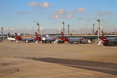 瓜鲁柳斯机场-圣保罗-巴西 免版税库存图片