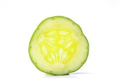 黄瓜,裁减成片断 图库摄影