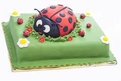 瓢虫蛋糕 免版税库存照片
