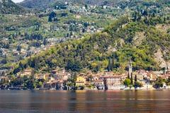 瓦伦纳村庄在科莫湖,意大利 免版税库存照片