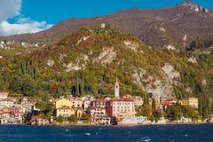 瓦伦纳村庄, Como湖,意大利 免版税库存照片