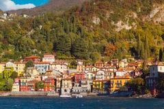 瓦伦纳村庄, Como湖,意大利 免版税库存图片