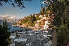 瓦伦纳村庄, Como湖,意大利 库存图片