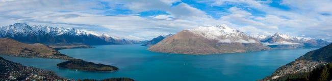 瓦卡蒂普湖,昆斯敦新西兰 免版税库存图片