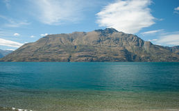 瓦卡蒂普湖,昆斯敦,新西兰 免版税图库摄影
