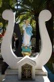 瓦哈卡,墨西哥10月31日2016年-严重标志在有的圣母玛丽亚一座公墓 库存图片