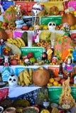 瓦哈卡,墨西哥10月31日2016年:一个法坛为死者的天 免版税库存照片