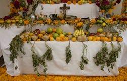 瓦哈卡,墨西哥10月31日2016年:一个法坛为死者的天 库存图片