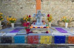 瓦哈卡,墨西哥10月31日2016年:一个法坛为死者的天 库存照片