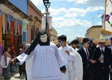 瓦哈卡,墨西哥10月31日2016年:人们在死者的天执行 免版税库存图片