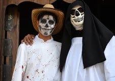 瓦哈卡,墨西哥10月31日2016年:人们在死者的天执行 库存照片