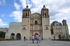 瓦哈卡,墨西哥10月31日2016年:瓦哈卡大教堂 图库摄影