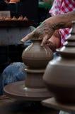 瓦器工艺品在泰国 图库摄影