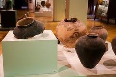 瓦器罐-在第比利斯博物馆,乔治亚的老状态 免版税库存照片