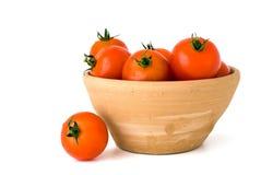 瓦器蕃茄 库存图片