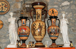 瓦器通过做拷贝古希腊花瓶 免版税库存照片