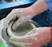 瓦器-手工制造陶瓷 免版税图库摄影