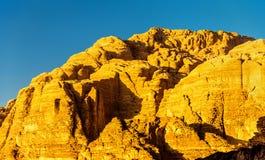 瓦地伦沙漠风景-约旦 免版税库存照片