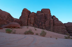 瓦地伦,月亮,亚喀巴,约旦,中东的谷 库存照片