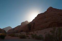 瓦地伦,月亮,亚喀巴,约旦,中东的谷 库存图片