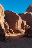 瓦地伦,月亮,亚喀巴,约旦,中东的谷 免版税图库摄影