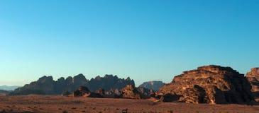 瓦地伦,月亮,亚喀巴,约旦,中东的谷 免版税库存图片