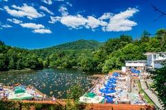 索瓦塔, URSU湖,罗马尼亚- 2015年8月8日: 免版税库存图片