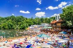 索瓦塔, URSU湖,罗马尼亚- 2015年8月8日: 库存图片