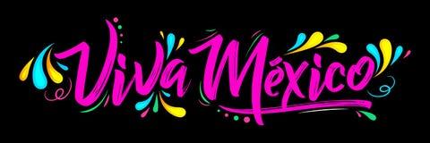 维瓦墨西哥,传统墨西哥词组假日 免版税库存图片