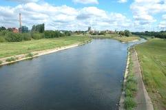 瓦尔塔河河在波兹南 库存照片