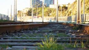 瓦尔帕莱索地铁铁路  库存照片