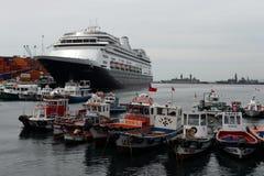 瓦尔帕莱索智利海口  免版税图库摄影