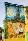 瓦尔帕莱索街艺术街道画 免版税库存图片