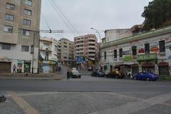 瓦尔帕莱索街道在智利 库存图片