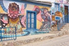 瓦尔帕莱索街道艺术  库存图片