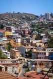 瓦尔帕莱索都市风景,智利 免版税库存照片