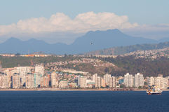 瓦尔帕莱索,智利海岸线  免版税库存照片