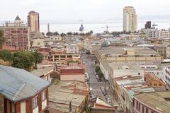 瓦尔帕莱索,智利看法  图库摄影