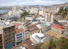 瓦尔帕莱索,智利看法  免版税库存照片