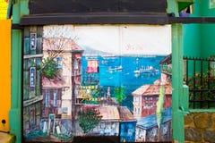 瓦尔帕莱索,智利街艺术 库存照片