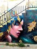 瓦尔帕莱索,智利街艺术 免版税库存图片