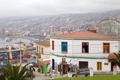 瓦尔帕莱索,智利都市风景  库存图片