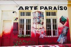 瓦尔帕莱索,智利-艺术商店 库存照片