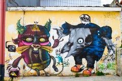 瓦尔帕莱索,智利-街道艺术 库存图片