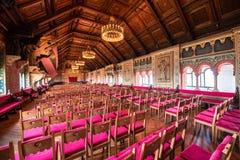 瓦尔特堡城堡的大厅 免版税库存图片