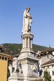 瓦尔特雕象,波尔查诺,南蒂罗尔,意大利 图库摄影