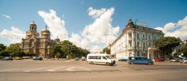 瓦尔纳市中心 免版税库存照片